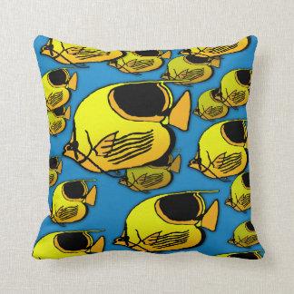 Orange & Yellow Sunfish Cushion