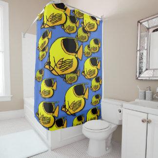 Orange & Yellow Sunfish Shower Curtain