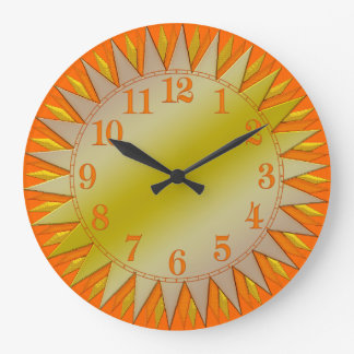 Orange Yellow Sunrise Wall Clock