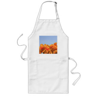 Orange yellow tulips by Thespringgarden Long Apron