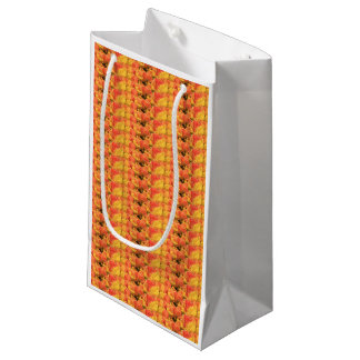 Orange yellow tulips by Thespringgarden Small Gift Bag