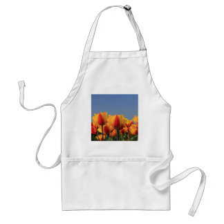 Orange yellow tulips by Thespringgarden Standard Apron