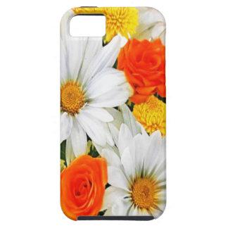 Orange Yellow White Flowers iphone 5 iPhone 5 Case