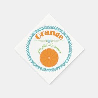 Orange You Glad It's Summer Fun Fruit Theme Disposable Serviettes