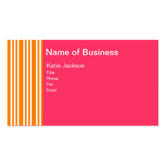 Orange You Pink Business Card Template