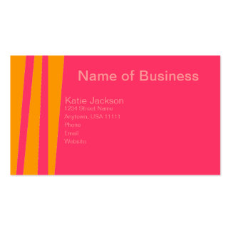 Orange You Wild & Pink 2 Business Card Template