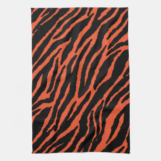 Orange Zebra Kitchen Towel