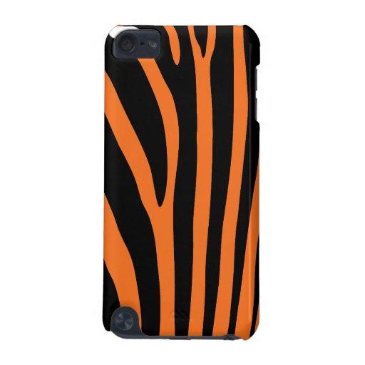 Orange Zebra Stripe iPod Touch 5G Case