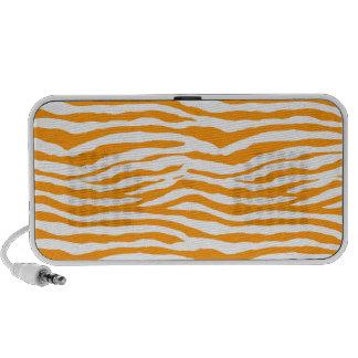 Orange Zebra Stripes Mp3 Speaker