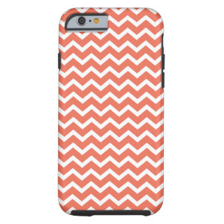 Orange Zig Zag Chevrons Pattern Tough iPhone 6 Case