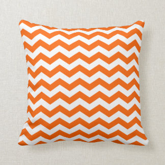 Orange Zig Zag Pattern Throw Pillow