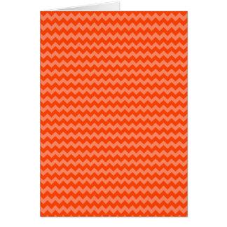 Orange Zig Zags Cards
