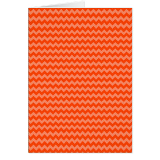 Orange Zig Zags Greeting Card