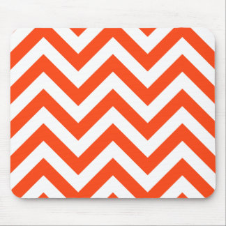 Orange Zigzag Chevrons Pattern Mouse Pad