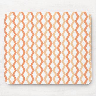 Orange Zigzag Lines Mouse Pad