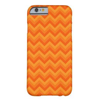Orange Zigzag Stripes. Barely There iPhone 6 Case