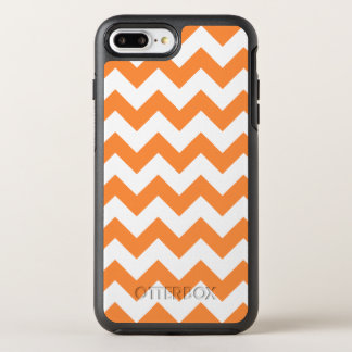 Orange Zigzag Stripes Chevron Pattern OtterBox Symmetry iPhone 8 Plus/7 Plus Case