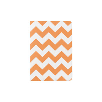 Orange Zigzag Stripes Chevron Pattern Passport Holder