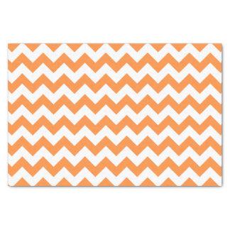 Orange Zigzag Stripes Chevron Pattern Tissue Paper