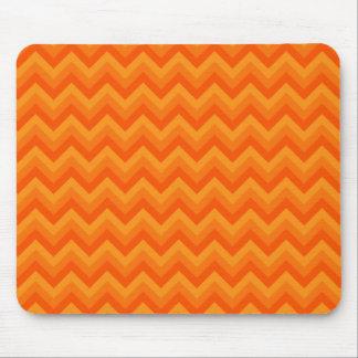 Orange Zigzag Stripes. Mouse Mat