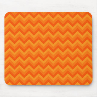 Orange Zigzag Stripes. Mouse Pad