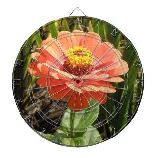 Orange Zinnia Flower Dart Board