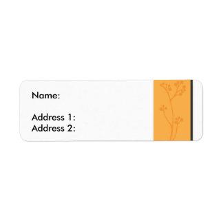 OrangeFlower Return Address Label