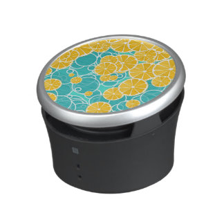 Oranges and bubbles bluetooth speaker