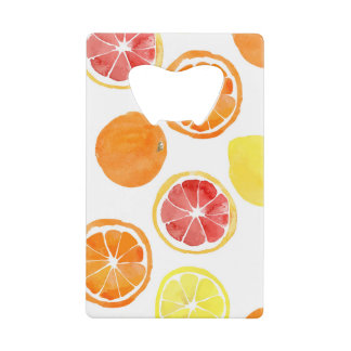 Oranges and Grapefruit Credit Card Can Opener