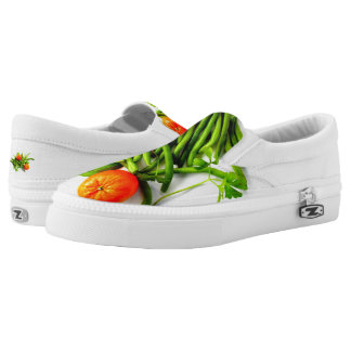 Oranges and Green Beans Slip On Sneakers