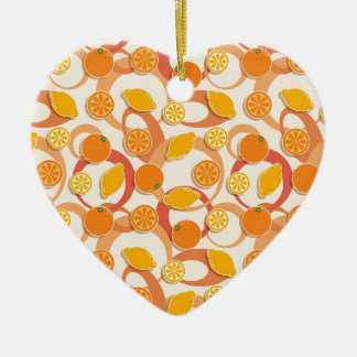 Oranges and lemons christmas ornament