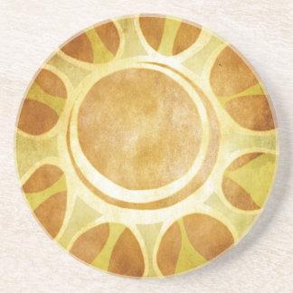 Oranges and Lemons - Golden Sunflower Batik Drink Coaster