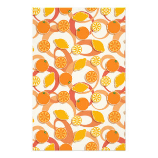 Oranges and lemons stationery