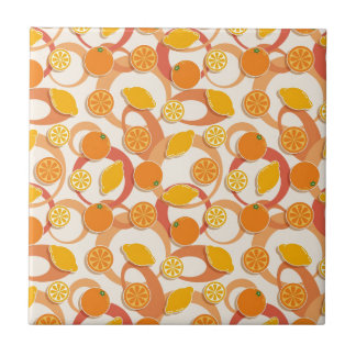 Oranges and lemons tile