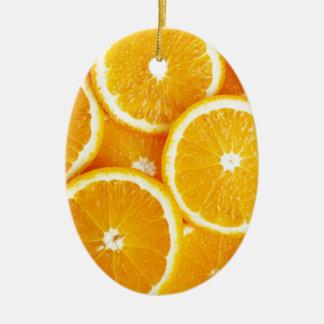 Oranges and more Oranges Ceramic Oval Decoration