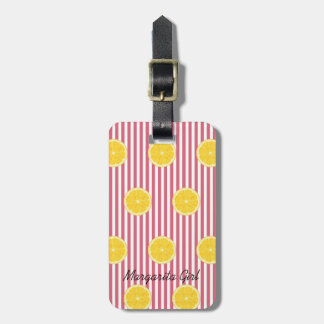 Oranges And Nantucket Red Fiesta Party Luggage Tag