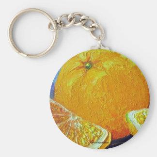 Oranges Basic Round Button Key Ring