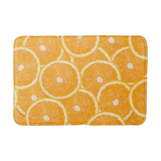 Oranges bath mats