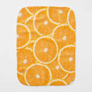 Oranges burp cloth