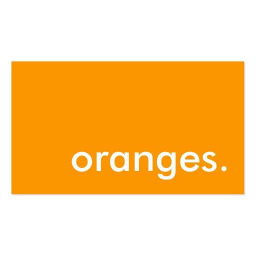 oranges. business card