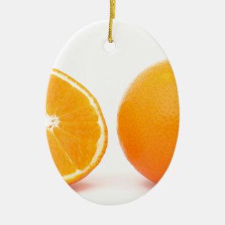 Oranges Ceramic Oval Decoration