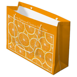 Oranges custom gift bags