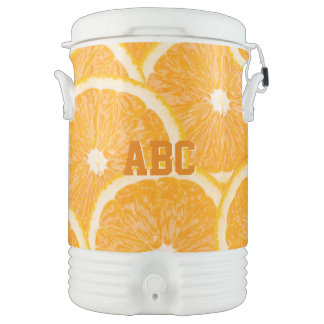 Oranges custom monogram beverage coolers cooler