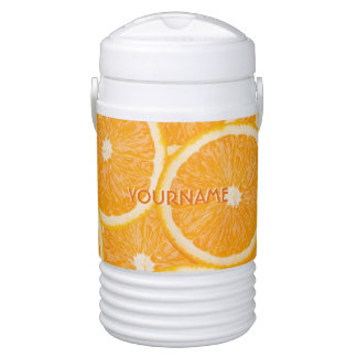 Oranges custom monogram beverage coolers drinks cooler