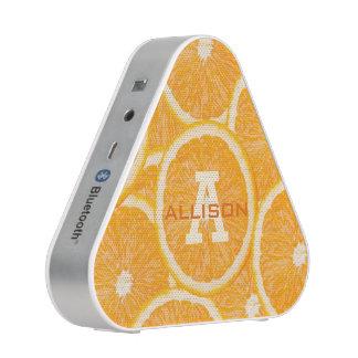 Oranges custom monogram bluetooth speaker
