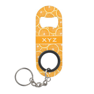 Oranges custom monogram bottle openers