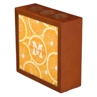 Oranges custom monogram desk organizer