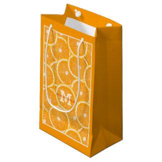 Oranges custom monogram gift bags