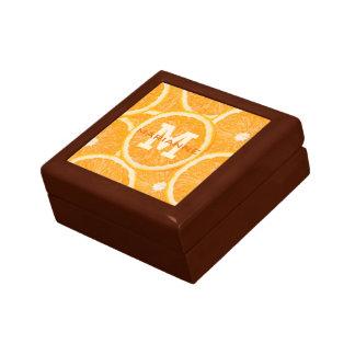 Oranges custom monogram gift / jewelry boxes