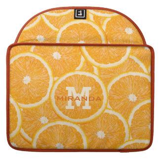 Oranges custom monogram MacBook sleeves
